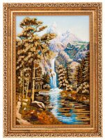 "Картина из янтаря ""Горная река"""
