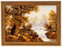 """Картина из янтаря """"Пороги"""""""