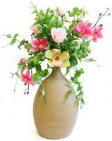 """Керамические цветы """"Букет из роз и орхидей"""""""