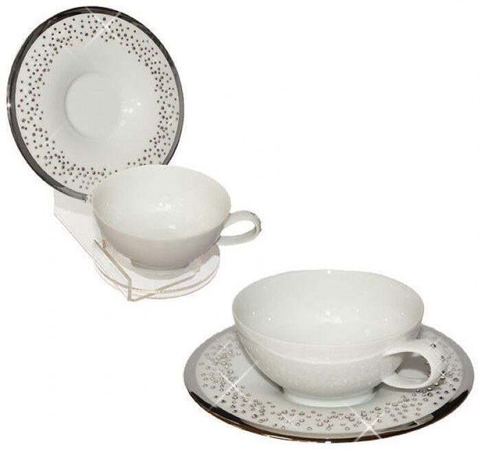 """Чайный набор  Manufacture de Monaco """"Свадьба""""  на 4 персоны, белый- 0"""