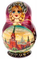 "Матрёшка на 5 мест ""Кремль"" (12 см)"