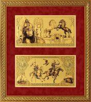 "Картина на сусальном золоте ""Деньги времен Чингисхана"""