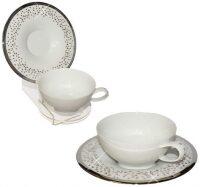 """Чайный набор  Manufacture de Monaco """"Свадьба""""  на 2 персоны, белый"""