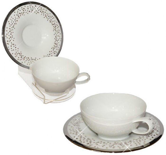 """Чайный набор  Manufacture de Monaco """"Свадьба""""  на 2 персоны, белый- 0"""
