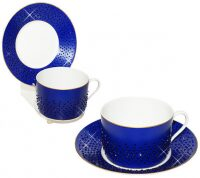 """Чайный набор для завтрака  Manufacture de Monaco """"Кобальт""""  на 6 персон"""