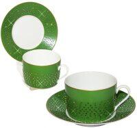 """Чайный набор для завтрака на 6 персон  Manufacture de Monaco """"Изумруд"""""""