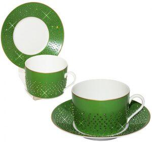 """Чайный набор для завтрака  Manufacture de Monaco """"Изумруд""""  на 6 персон"""