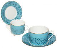 """Чайный набор для завтрака  Manufacture de Monaco """"Голубая лагуна""""  на 6 персон"""