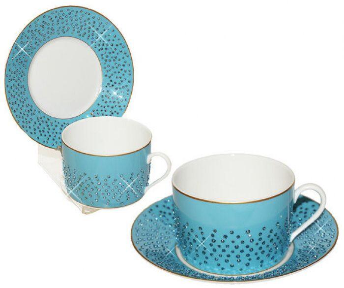 """Чайный набор для завтрака  Manufacture de Monaco """"Голубая лагуна""""  на 6 персон- 0"""