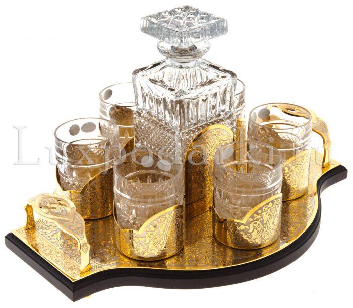 "Набор для виски ""Непобедимый"" на 6 персон (Златоуст)- 1"