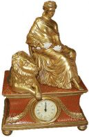 "Часы Cattin ""Дама и лев"" , цвет: красный"