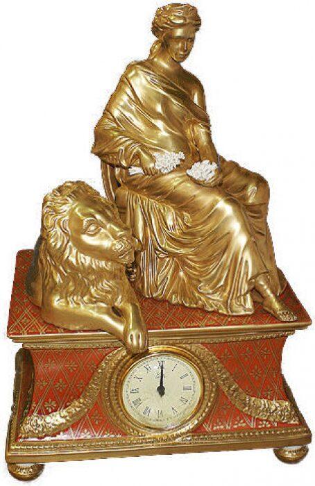 "Часы  Cattin ""Дама и лев"" , цвет: красный- 0"