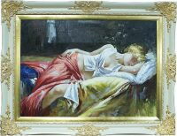 """Картина  Bertozzi Cornici """"Спящая девушка"""" , цвет: слоновой кости"""