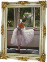 "Картина  Bertozzi Cornici ""Балерина у станка"" , цвет: сл. кости"