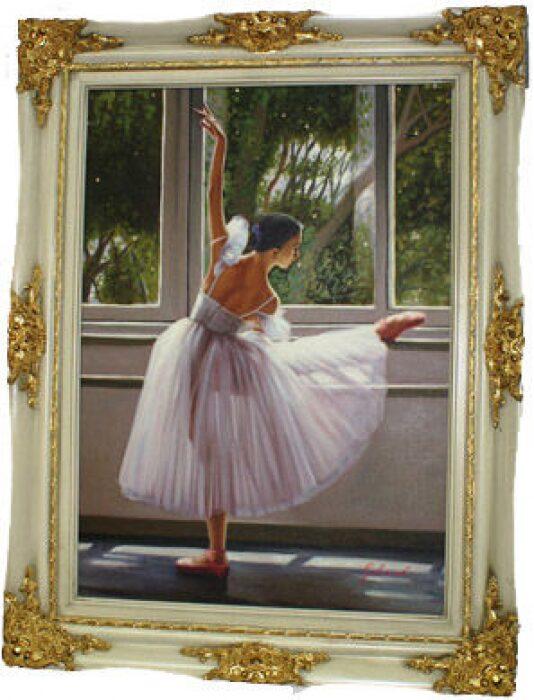 "Картина  Bertozzi Cornici ""Балерина у станка"" , цвет: сл. кости- 0"