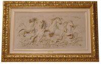 """Барельеф Porcellane Principe """"Бегущие кони""""  (рысцой)"""