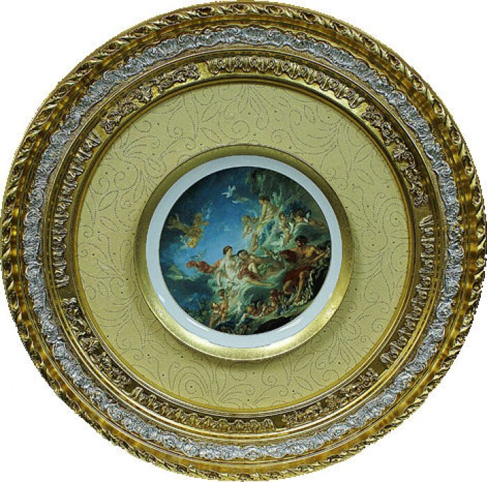 Декоративная тарелка в рамке из дерева Bertozzi Cornici- 0