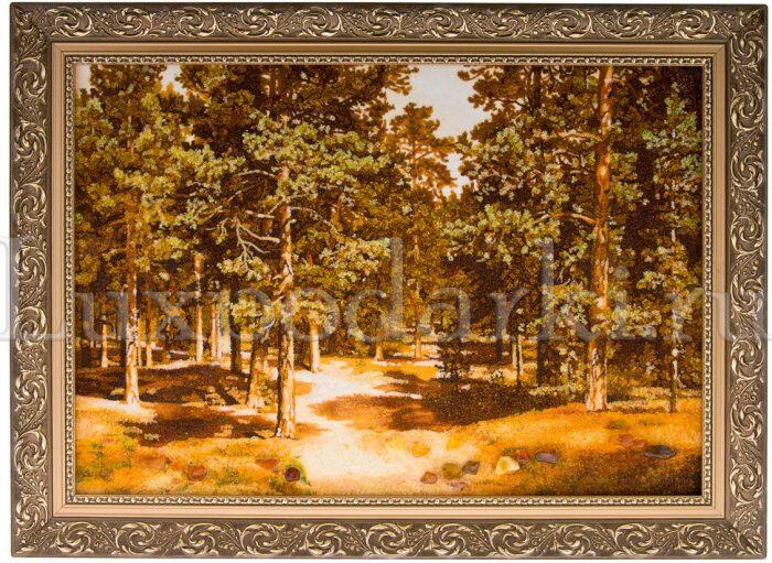 """Картина из янтаря """"Сосновый бор""""- 0"""