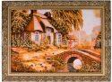 """Картина из янтаря """"Дом в цветах""""- 0"""