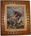 """Барельеф  Porcellane Principe """"Наполеон"""" , цвет: разноцветный в рамке золотого цвета- 0"""