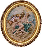 """Барельеф  Porcellane Principe """"Венера и купидон""""  в цвете"""