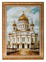 "Картина из янтаря ""Храм Христа Спасителя"""