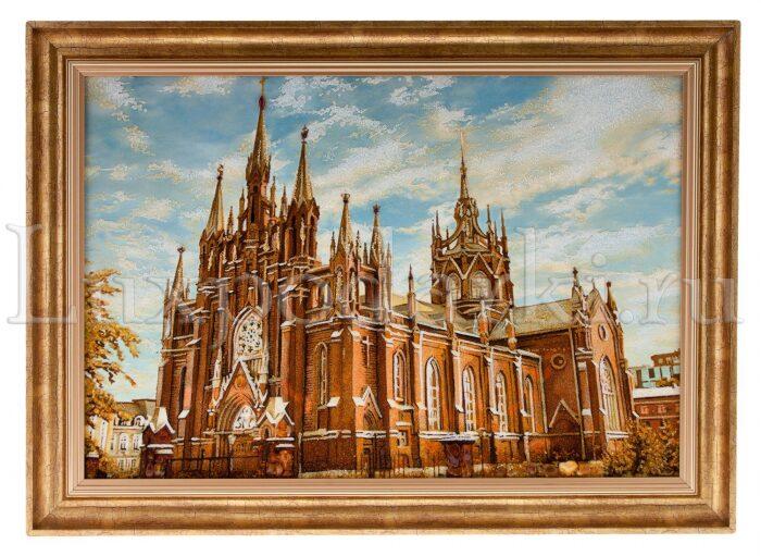 """Картина из янтаря  """"Католический храм""""- 0"""