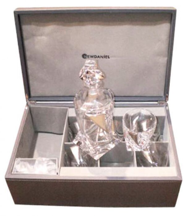 Набор для виски с серебряным декором Linea Argenti- 0