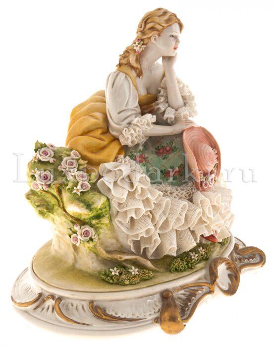 "Статуэтка  Porcellane Principe ""Дама с шляпой"" - 1"