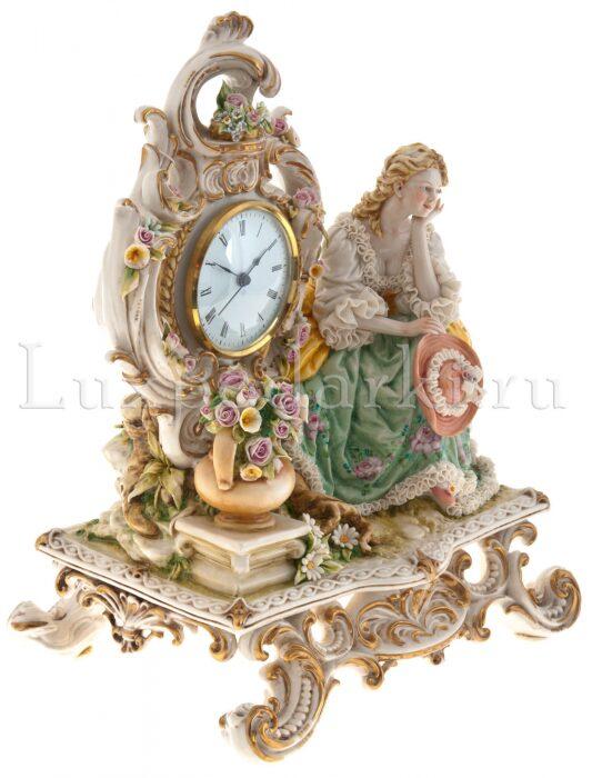 """Часы  Porcellane Principe """"Дама на скамье"""" - 1"""