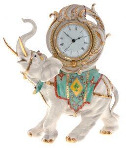 """Часы  Porcellane Principe """"Слон"""""""