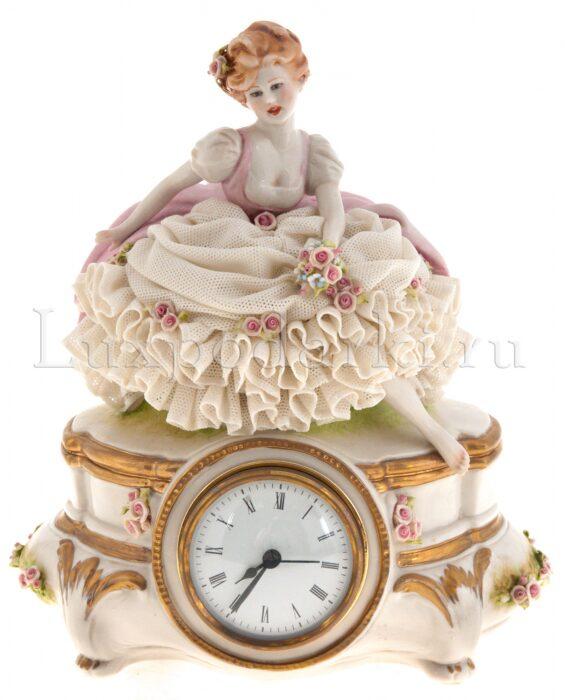 """Часы  Porcellane Principe """"Девушка с цветами"""" - 0"""
