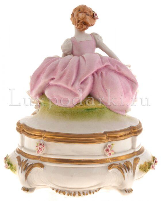 """Часы  Porcellane Principe """"Девушка с цветами"""" - 2"""