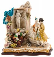 "Статуэтка  Porcellane Principe ""Цветочница у фонтана"""