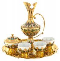 """Чайный набор с пиалами """"Восточный"""" на 3 персоны (Златоуст)"""