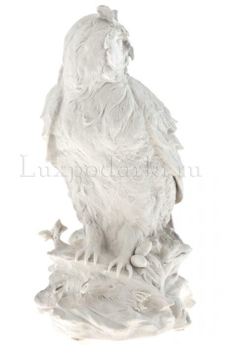 "Скульптура  Porcellane Principe ""Сова""  белая- 1"