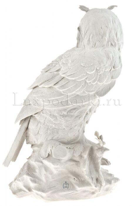 "Скульптура  Porcellane Principe ""Сова""  белая- 2"