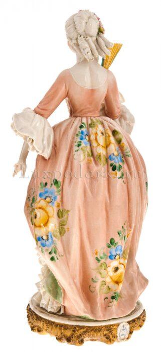 """Статуэтка  Porcellane Principe """"Дама с веером""""  цветная- 2"""