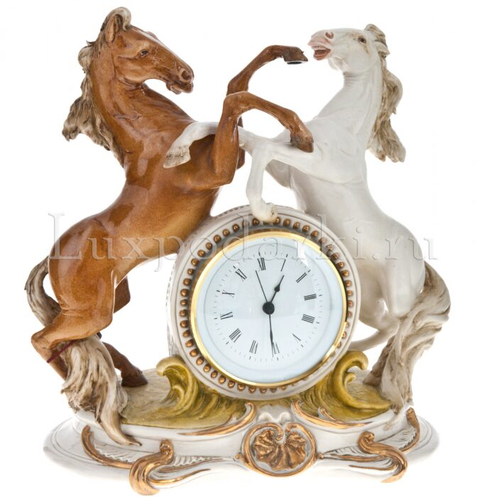 """Часы  Porcellane Principe """"Кони"""" , цвет: разноцветный - 0"""
