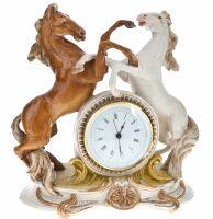 """Часы  Porcellane Principe """"Кони"""" , цвет: разноцветный"""
