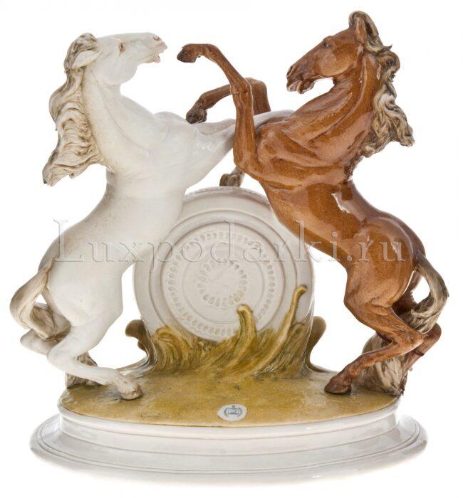 """Часы  Porcellane Principe """"Кони"""" , цвет: разноцветный - 2"""
