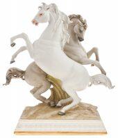 "Статуэтка  Porcellane Principe ""Два коня"""