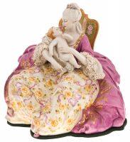 """Статуэтка  Porcellane Principe """"Дама с малышом"""""""