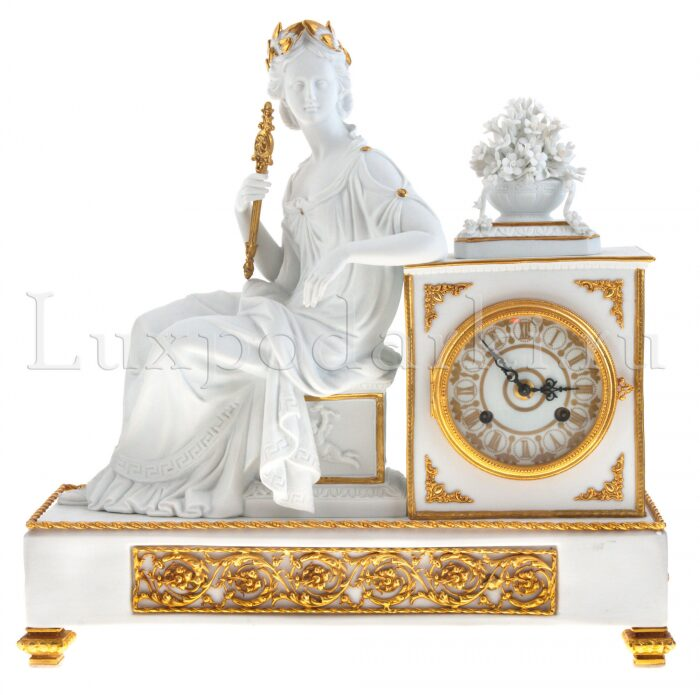 """Часы каминные  Tiche """"Империя"""" , цвет: белый- 0"""