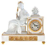 """Часы каминные  Tiche """"Империя"""" , цвет: белый"""