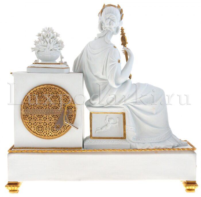 """Часы каминные  Tiche """"Империя"""" , цвет: белый- 2"""