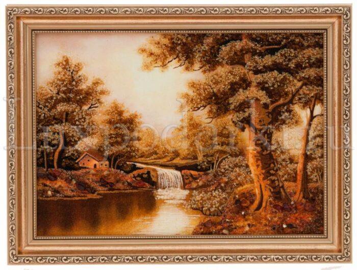 """Картина из янтаря """"Водопад""""- 0"""