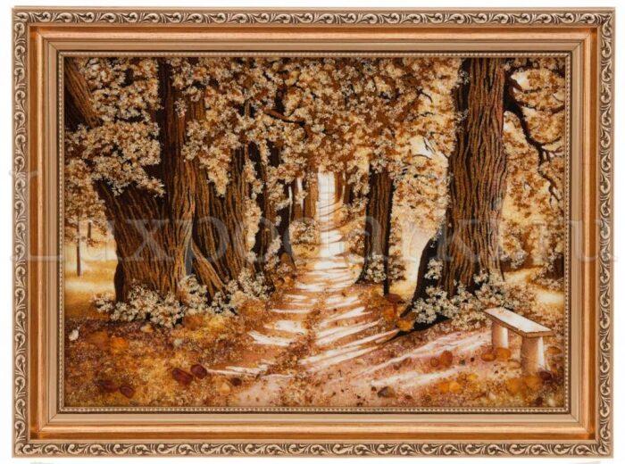 "Картина из янтаря ""Аллея""- 0"