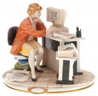 """Статуэтка  Porcellane Principe """"Инженер"""" , цвет: белый"""