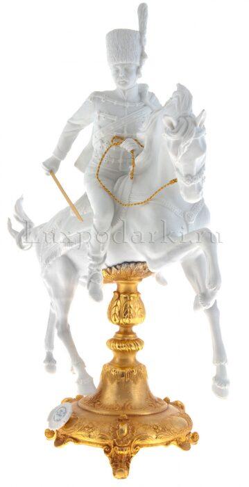 """Скульптура  Tiche """"Гусар на коне"""" , цвет: белый- 1"""